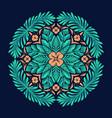 ethnic boho hippie seamless mandala pattern vector image