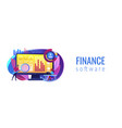 financial management system concept banner header vector image vector image