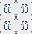 Flip-flops Beach shoes Sand sandals icon sign vector image