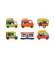 Food truck trailers set vector image vector image