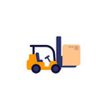forklift truck with box icon vector image