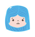 full color girl head with hairstyle and tender vector image vector image
