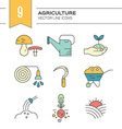 Garden and Plants Icons vector image vector image