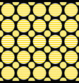 geometrical circle pattern design background vector image vector image