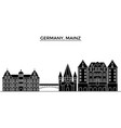 germany mainz architecture city skyline vector image
