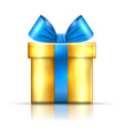 gift box blue icon surprise present template vector image