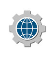 global setting flat icon vector image