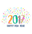 happy new year 2017 colorful party decoration art vector image
