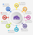 infographic template with village icons vector image vector image