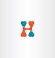 letter h logo sign icon element symbol design vector image vector image