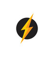 Letter s thunder circle 3d flat logo