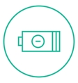 Low power battery line icon vector image vector image