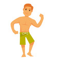 man showing muscles vector image
