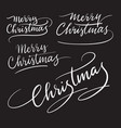 merry christmas handwriting calligraphy vector image vector image