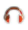 Music headphones device vector image vector image
