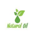 natural oil logo design inspiration vector image vector image
