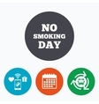 No smoking day sign icon Quit smoking day vector image vector image
