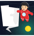 Of A Cute Astronaut With Origa vector image