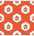 Orange hexagon FOR RENT pattern vector image vector image