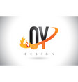 oy o y letter logo with fire flames design and vector image vector image