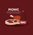 picnic food design vector image vector image