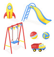 playground park cartoon fun play kid vector image vector image