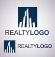 realty logo 1 2 vector image vector image