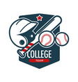 rugfootball sport college team badge vector image vector image