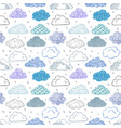 seamless background with blue and violet doodle vector image vector image