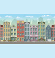 seamless cityscape background with classic houses vector image vector image