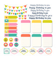 set of birthday party design elements template vector image