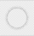 silver circle isolated white transparent vector image vector image