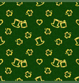 stpatricks day seamless repeat patterngolden vector image vector image