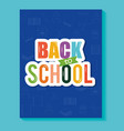 text book with back to school in cover