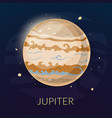 The planet Jupiter vector image vector image