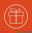 thin line gift box icon design vector image vector image