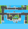 top viewport marinas with bridges roads vector image