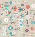 vintage insects pattern vector image