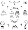 Wedding doodle art vector image vector image