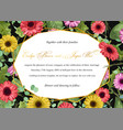 wedding invitation postcard greeting card vector image
