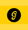 yellow g letter alphabet logo icon design with vector image