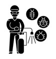 insect service icon black vector image