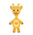 Cute cartoon character giraffe Baby toy giraffe vector image