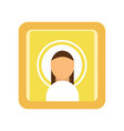 painted icon of saint man religious work of art vector image