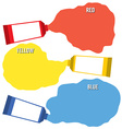 Squeezed Primary Color Tubes vector image