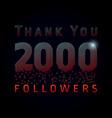 2 000 followers pixels dark vector image vector image
