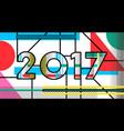 2017 new year pop art typography retro design vector image vector image