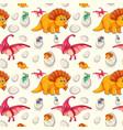 a dinosaur seamless pattern vector image vector image