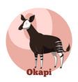abc cartoon okapi vector image vector image