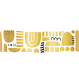 abstract golden shapes seamless border vector image vector image